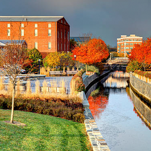 Carroll Creek in Frederick, Maryland in the Fall